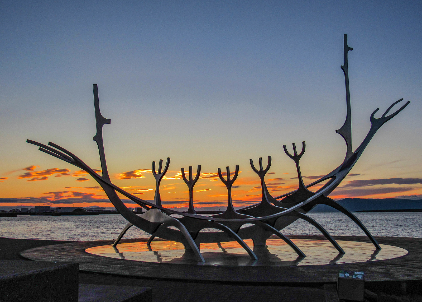 sun voyager sunset iceland